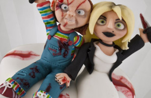 Bride of Chucky Wedding Cake