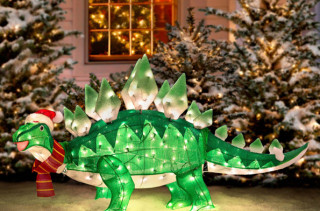 Dino Xmas Lawn Decoration