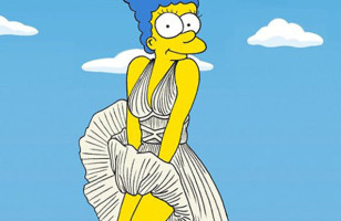 Marge Simpson As Famous Icons