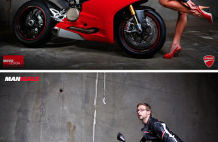Real Men Pose As Motorcycle Models