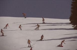 Skiers Get Naked & Ski