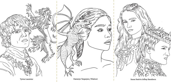 Game Of Thrones Coloring Book 2