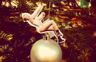 DIY Miley Cyrus Wrecking Ball Ornament