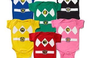 Go Go Power Ranger Onesies!