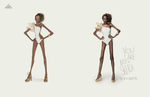 If Models Looked Like Fashion Sketches