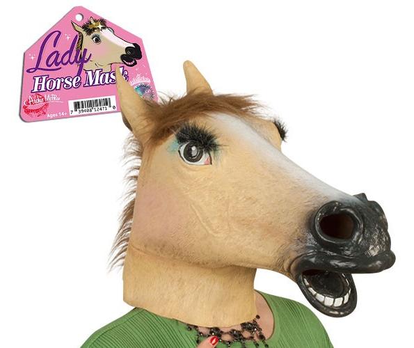 Horse-mask-lady
