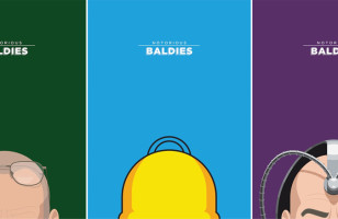 Minimal Prints of Beloved Baldies