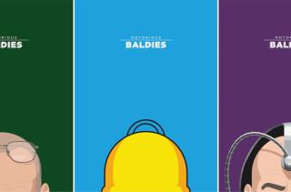 Minimal Prints of Beloved Baldies