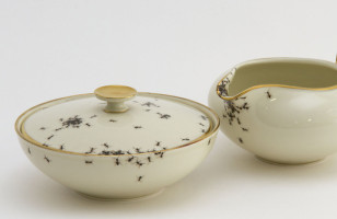 Ew Ew Ew: Dishware Covered in Ants