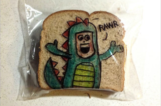 Dad Makes Awesome Sandwich Bag Art
