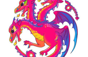 Lisa Frank x Game of Thrones