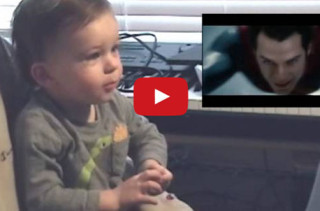 Baby Reacts To Superman Flying