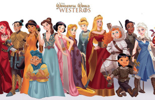 Disney Princesses Do Game of Thrones