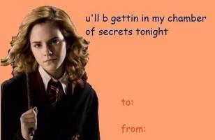 Corny Harry Potter Valentines