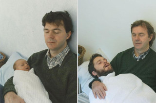 Brothers Recreate Old Family Photos