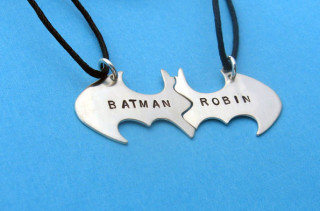 Batman & Robin BFF Necklaces