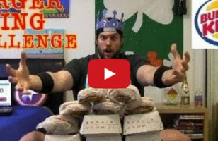 Guy Eats Every Burger From BK In One Sitting