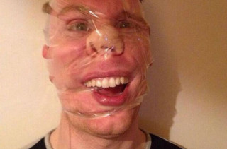 NEW THING: Taped Up Face Selfies
