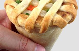 Mmm, Chicken Pot Pie Cone Get In My Belly