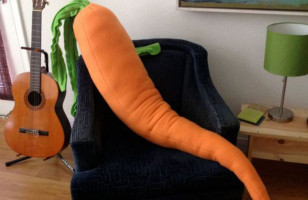 For The Lonely Bunny: Giant Carrot Body Pillow