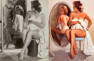 Pin Up Paintings & The Models Who Inspired Them