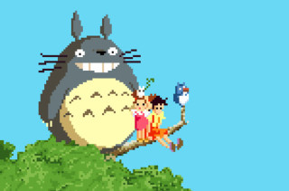 The Whimsical World Of Miyazaki In Pixel Art