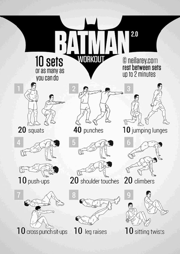Work Outs Inspired By Batman & More Shows & Movies