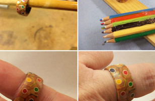 Sorcery!: A Ring Made From A Box Of Colored Pencils