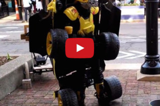 Street Performer Dresses & Acts As A Transformer