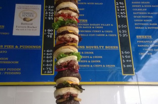 Giant Burger Measures Over 5 Feet, 30k Calories