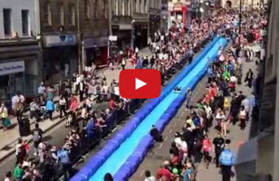 City Shuts Down Street For Giant Slip 'N Slide