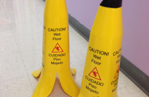 Banana-Shaped Caution Cones Are Clever & Uh, Cautionary