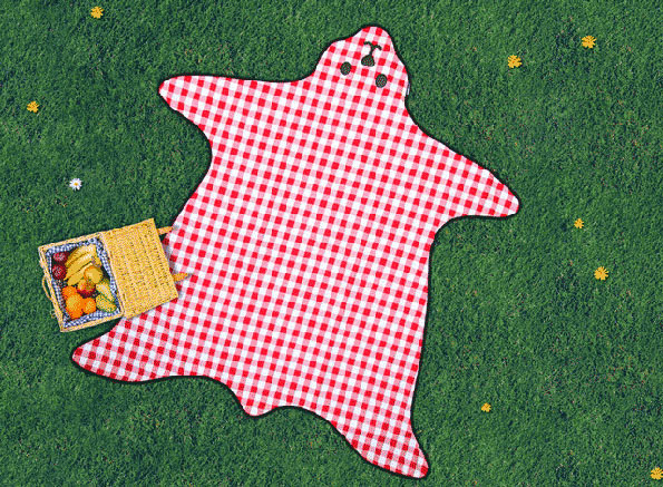 This Bear Skin Picnic Blanket Is Beary Cute