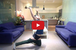 Well, That's One Way To Do It!: Guy Dances His Pants On