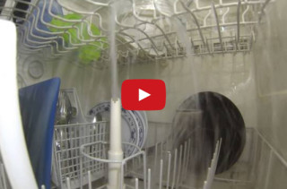 See What A Running Dishwasher Looks Like From Inside