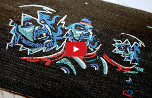 The First Embroidered Music Video Ever Is Bad-ass Craftiness
