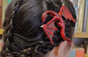 Fantastic & Whimsical Dragon Hair Clips