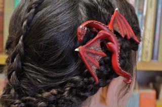Fantastic & Whimsical Dragon Hair Clips