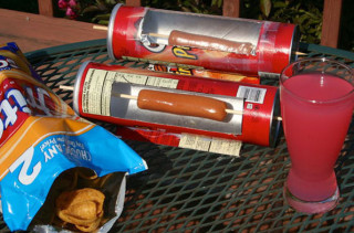 How To Cook A Hot Dog In Pringles Can
