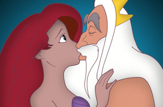 Princest Diaries: Disney Princesses Getting Kissed On By Their Dads
