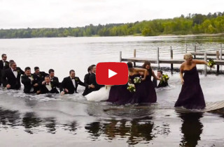 22 Person Wedding Party Takes A Dip After Dock Collapses