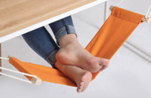 The Foot Hammock Is For Relaxing On The Job