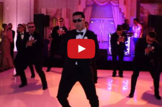 Groom & Groomsmen Surprise Bride With Hilarious Wedding Dance