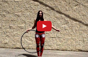 Woman's Hula Hoop Tricks Will Blow Your Tiny Mind*