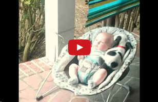 This Puppy Joins A Baby For A Nap & It's Too Cute