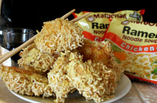 Ramen Chicken Nuggets: College & Childhood Foods Combined