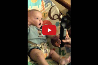 This Baby Sees A Remote & He Just Can't Handle It
