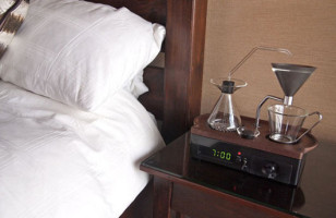 This Alarm Clock Wakes You Up With A Cup Of Coffee