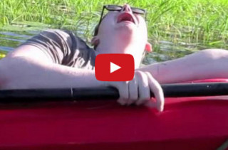 Sinking Kayaker Having A Breakdown Is Hilarious