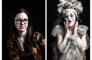 Burlesque Performers Before & After Their Character Transformation